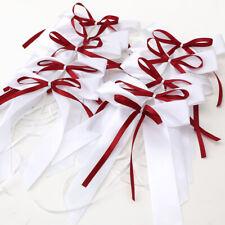 10pcs Noeud papillon ruban satin décoration voiture salle mariage 2 couleur
