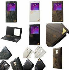 Carbon - Holz Optik Hülle für Samsung Galaxy Note 4 N910