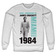 Miami Vice 1984 Don Johnson Is James Crockett 80s Tv Serie Männer Men Sweatshirt