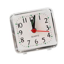 Mini carré quartz horloge voyage réveil chambre à coucher maison table