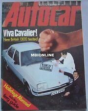 Autocar magazine 10/12/1977 featuring Vauxhall, Wolf racing team, Chrysler
