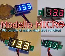 MICRO VOLTMETRO LED tensione tester moto auto voltimetro camper pannelli solari