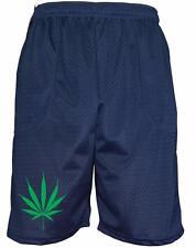 Mens Printed Marijuana Addicted Funny Basketball Gym School Uniform Mesh Pants