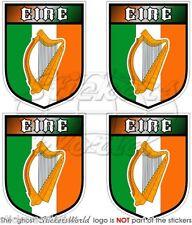 IRLAND Eire Schild Gaelic Harp IRISCHEN Vinyl Sticker Aufkleber 50mm x4