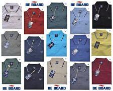 POLO UOMO M L XL XXL 3XL MAGLIA cotone piquet manica corta 15 colori Be Board