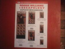 """ROBBIE WILLIAMS - PLAN MEDIA / PRESS KIT """"ESCAPOLOGY"""""""