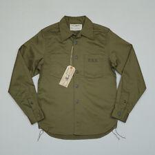 BOB DONG USN Military Long Sleeve Shirts Vintage US Army Selvedge Men's Tops L