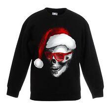 Santa Claus Skull Father Christmas Bah Humbug Kids Sweater  Jumper - Childrens