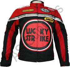 LUCKY STRIKE Cordura Textil Motorrad Jacke - Motorradjacke - Schwarz / Rot