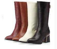 botas invierno cómodo elegantes mujer talón 4 cm como piel 8836