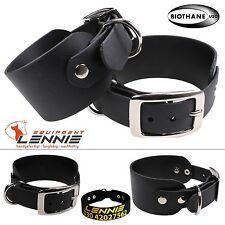 BioThane Windhundhalsband, Hundehalsband, 38 oder 50 mm, Dornschnalle, Aufdruck