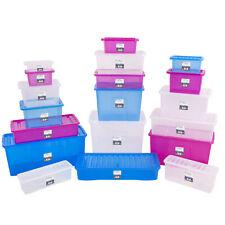 Aufbewahrungsbox Deckel Multifunktions Box Kunststoff Spielzeug Stapel Kiste XXL