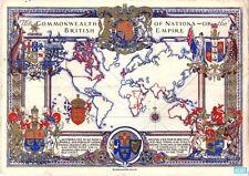 VINTAGE 1937 mappa dell' impero britannico POSTER A3 stampa