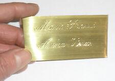 targa Porta Nome Ottone  misura 4,5 x 8 cm citofono cassetta posta  2 nomi