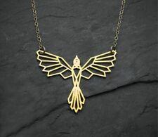 Phoenix Origami Bird Necklace Jewelry Geometric Wing Pendant Accessories Women
