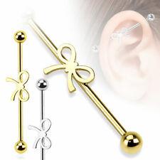 RIBBON Industrial BAR Scaffold EAR Cartilage Helix Barbell Ring PIERCING JEWELRY