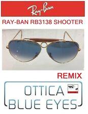 Occhiali da sole RAYBAN RB 3138 SHOOTER CUSTOM REMIX Sunglasses Round Arms NEW