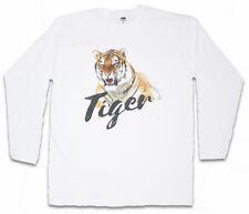 TIGER LANGARM T-SHIRT Tigers Fur Tattoo Asia White Africa Welfare Cat