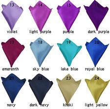 Lot 9 Pieces Men Silk Blend Pocket Square Handkerchief Wedding Rolled Edge New
