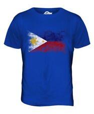 Filippine Bandiera Effetto Consumato T-Shirt Uomo Filipinas