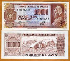Bolivia, 100,000 Pesos Bolivanos, 1984, P-171, aUNC