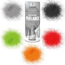 Rust-Oleum Rubberised Peelable Aerosol Spray Paints Matt 150ml Home Objects