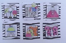 PK 6 TRENDY GIRLS EMBELLISHMENT TOPPERS FOR CARDS SET 1