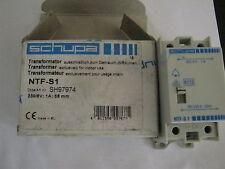 NEW SCHUPA DOORBELL TRANSFORMER. NTF-S1. 230/8V,1A
