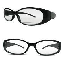 Ladies Bifocal Designer Black Polished Framed Stylish Oval Reading Glasses