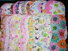 handmade burp cloth girls double flannel group1a