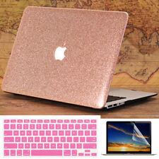 PU Rose Gold Hard Case Keyboard Skin Screen Skin For Macbook Air Pro 11 12 13 15