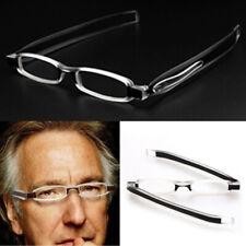 Portable Ultra Slim 360° Folding Reading Glasses Pocket Eyewear Black +1.0~+4.0