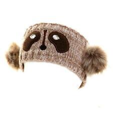 Ladies Girls Novelty Animal Knitted Headband Ski Hats Ear Warmers 3 Designs