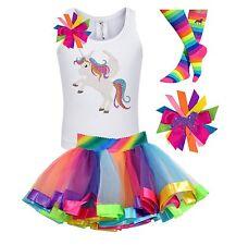 Bubblegum Divas Unicorn Shirt Girl Rainbow Tutu Outfit Personalized Party Gift