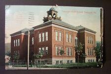 RARE ANTIQUE 100 YR OLD POSTCARD  TAMAQUA HIGH SCHOOL PA