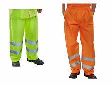 WARNSCHUTZ Regenhose gelb orange Arbeitshose Warnschutzhose Hose S - 6XL BEE