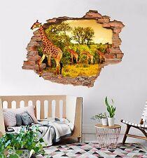 3D Giraffes Road 18 Wall Murals Wall Stickers Decal Breakthrough AJ WALLPAPER AU