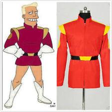 Futurama Captain Cosplay Zapp Brannigan Costume Red Short Coat Jacket#