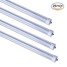25X 8FT LED Light Tube Bulb FA8 Single Pin 45W Dual-Ended Power 6000K T8 T10 LED