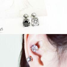 stud, Men ear piercing stud, 1pc 16g Large crystal cartilage earring, Big ear