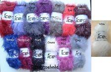 ICE Hilos Imitación Piel Glitz-Furry voluminosos Lana/Hilo - 100g-Peluche? - 14 Colores
