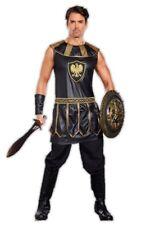 Deadly Warrior Men's Costume Tunic Adult Black Roman Greek Gladiator Md-XXL