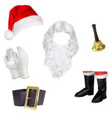 Adults / Kids Full Santa Fancy Dress Costume Accessories (Wig, Beard, Hat etc)