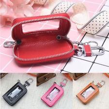 fashion Car key case cowhide key cover fob key chain for car zipper wallet FYFY