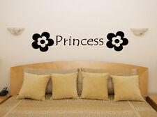 Princess Flowers Nursery Children's Bedroom Room Decal Wall Art Sticker Picture