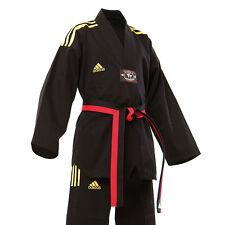 Adidas Champion All Black V-Neck (Yellow Stripes)