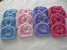Handmade Crocheted Hat Choice of 4 Sizes, Micro, Preemie, Newborn, 3 to 6 Months
