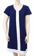 Robe Bleu Marine et blanc LOLA ESPELETA femme Robe Seventies taille M