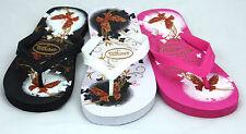 Womens Girls Ladies Flip Flops Butterfly Design Holiday Beach Wear Sandals Size