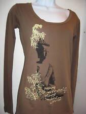 NEWTG Alternative Apparel ORGANIC Buddha Peace LS shirt